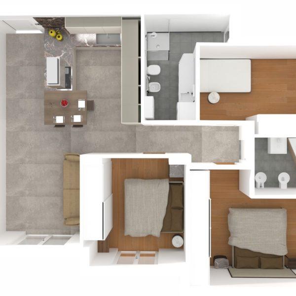Progetto Arredamento appartamento L. Nocera